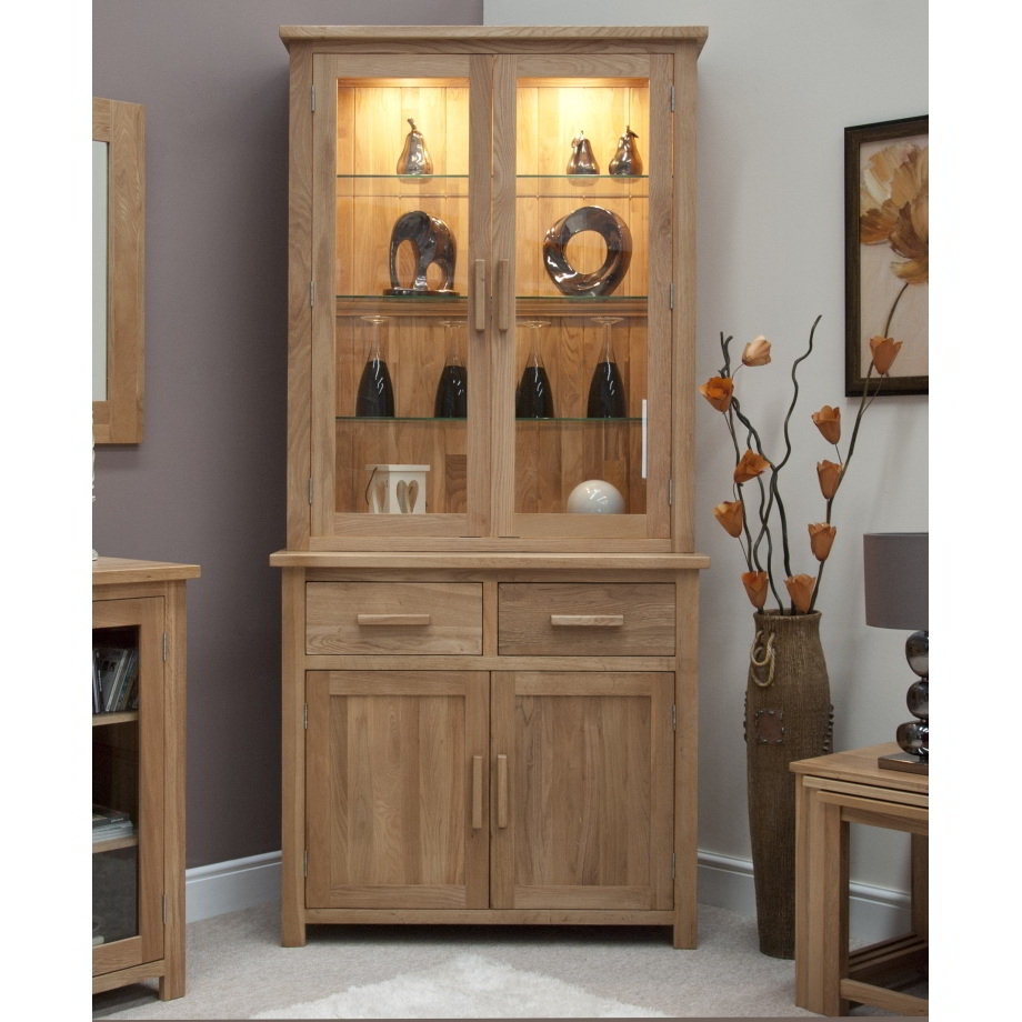 Light Oak Living Room Furniture Eton Solid Oak Living Dining Room Furniture Small Dresser Display
