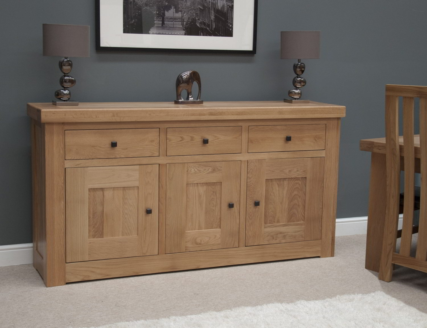 Belgrave Solid Premium Oak Living Dining Room Furniture