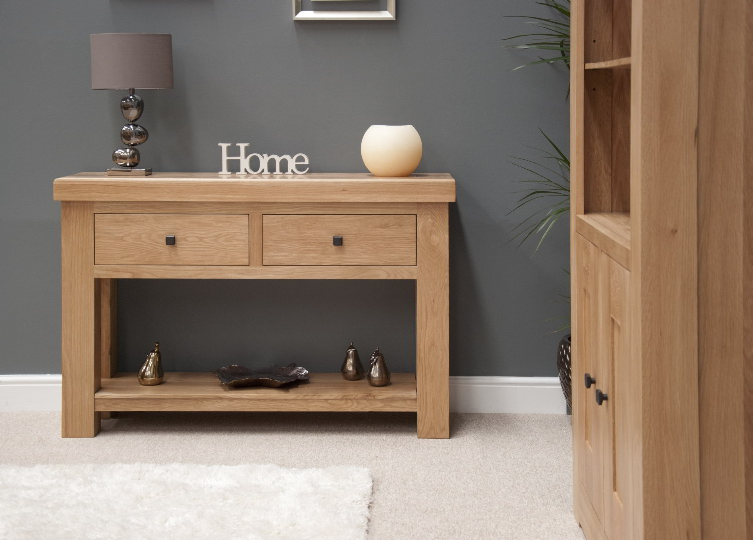 Belgrave Solid Premium Oak Hallway Furniture Console Hall