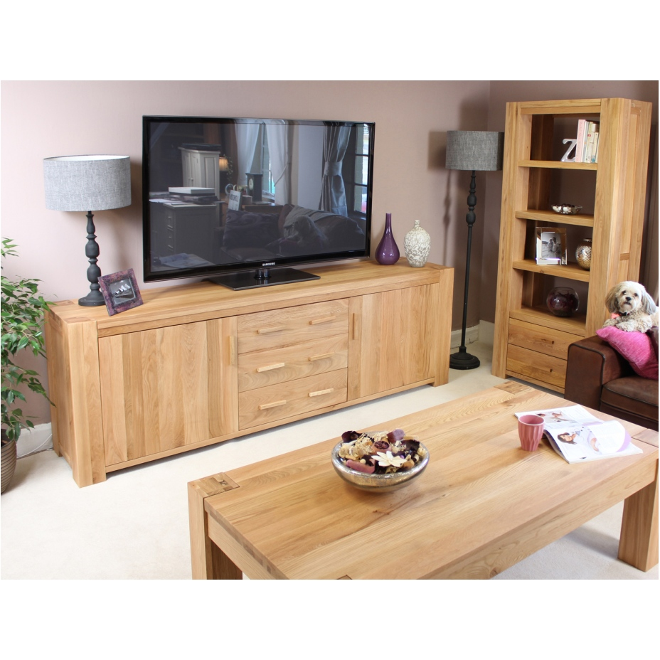 Palma Solid Chunky Oak Furniture Large Living Dining Room Sideboard EBay