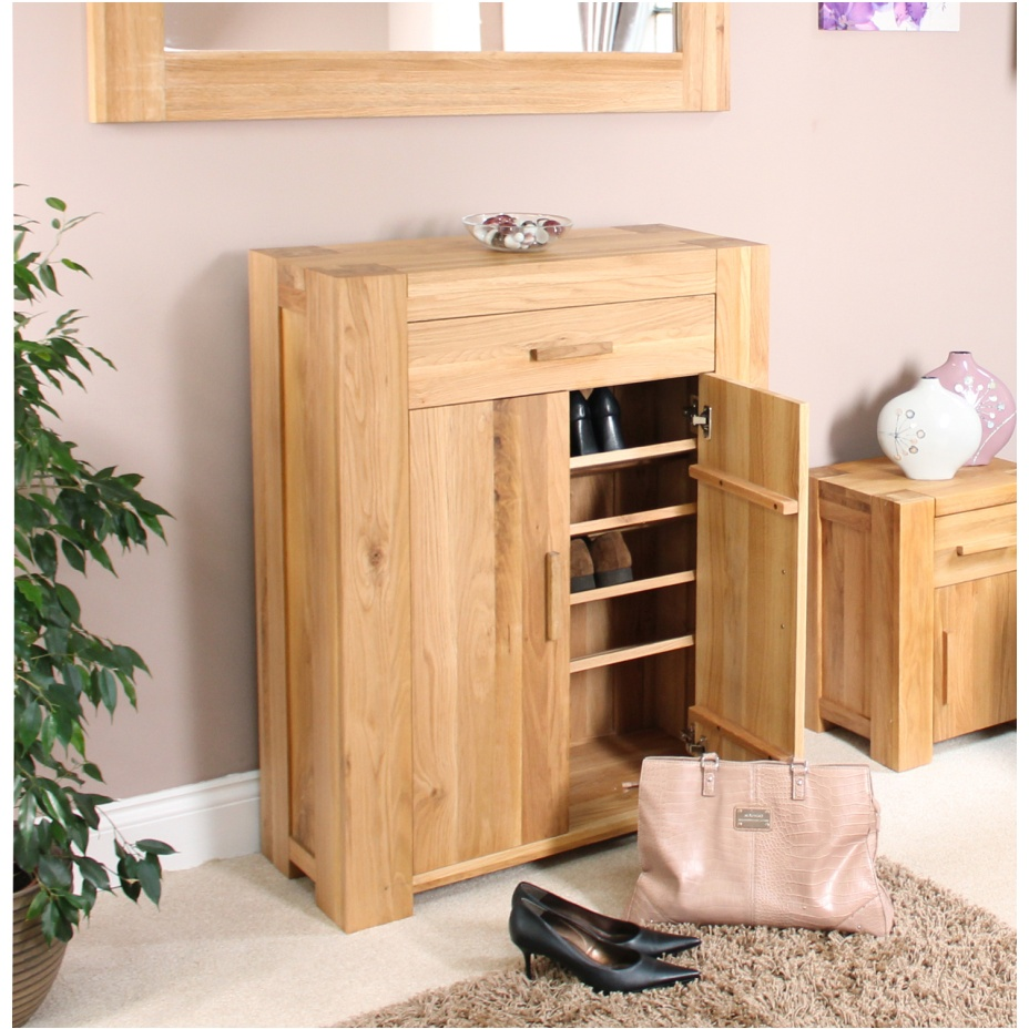 Palma Solid Chunky Oak Hallway Furniture Shoe Storage Cabinet Cupboard Rack Ebay