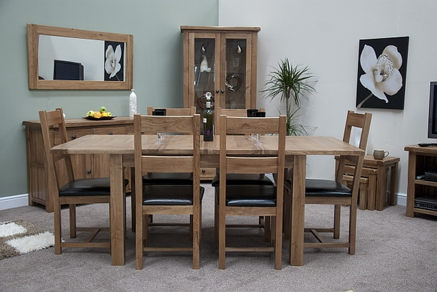 Tilson Solid Oak Furniture Extending Dining Table And Six Chairs Set EBay