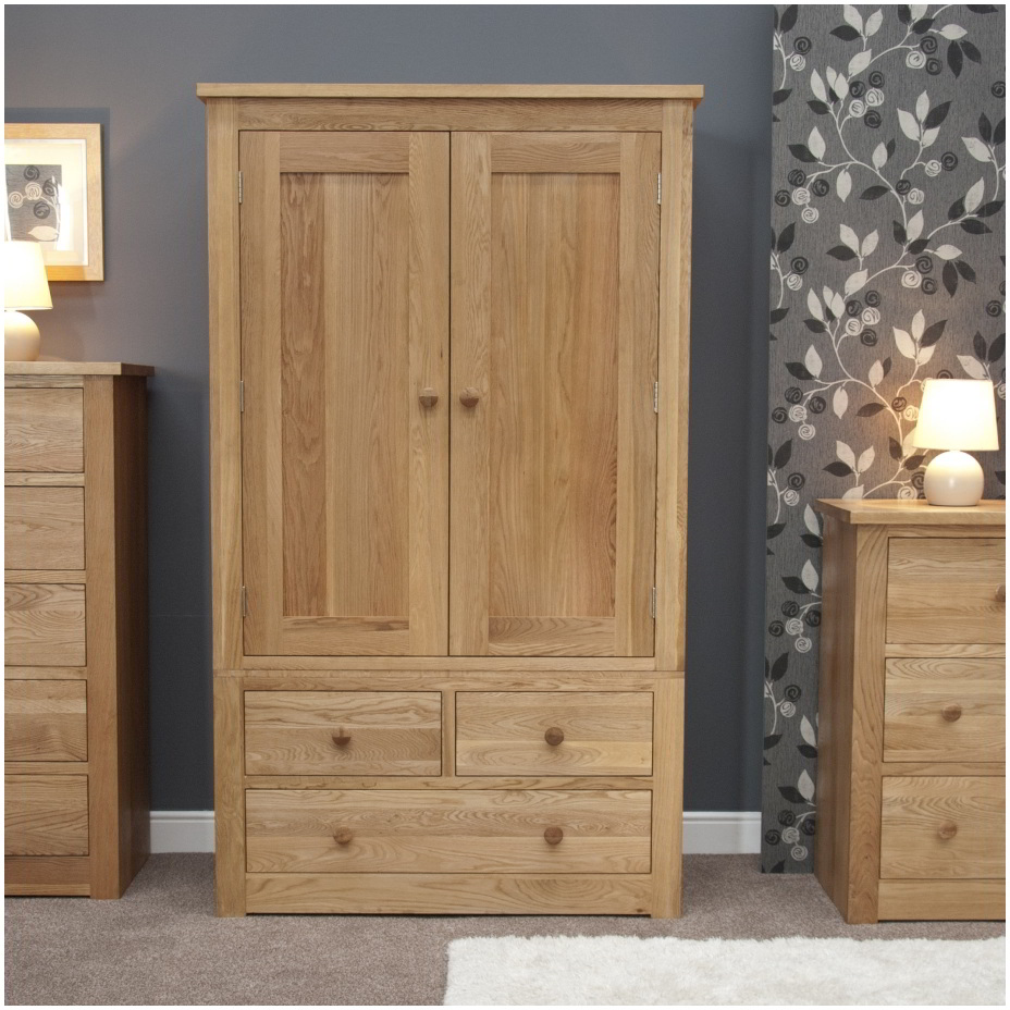 Kingston solid modern oak bedroom furniture double for Oak bedroom furniture