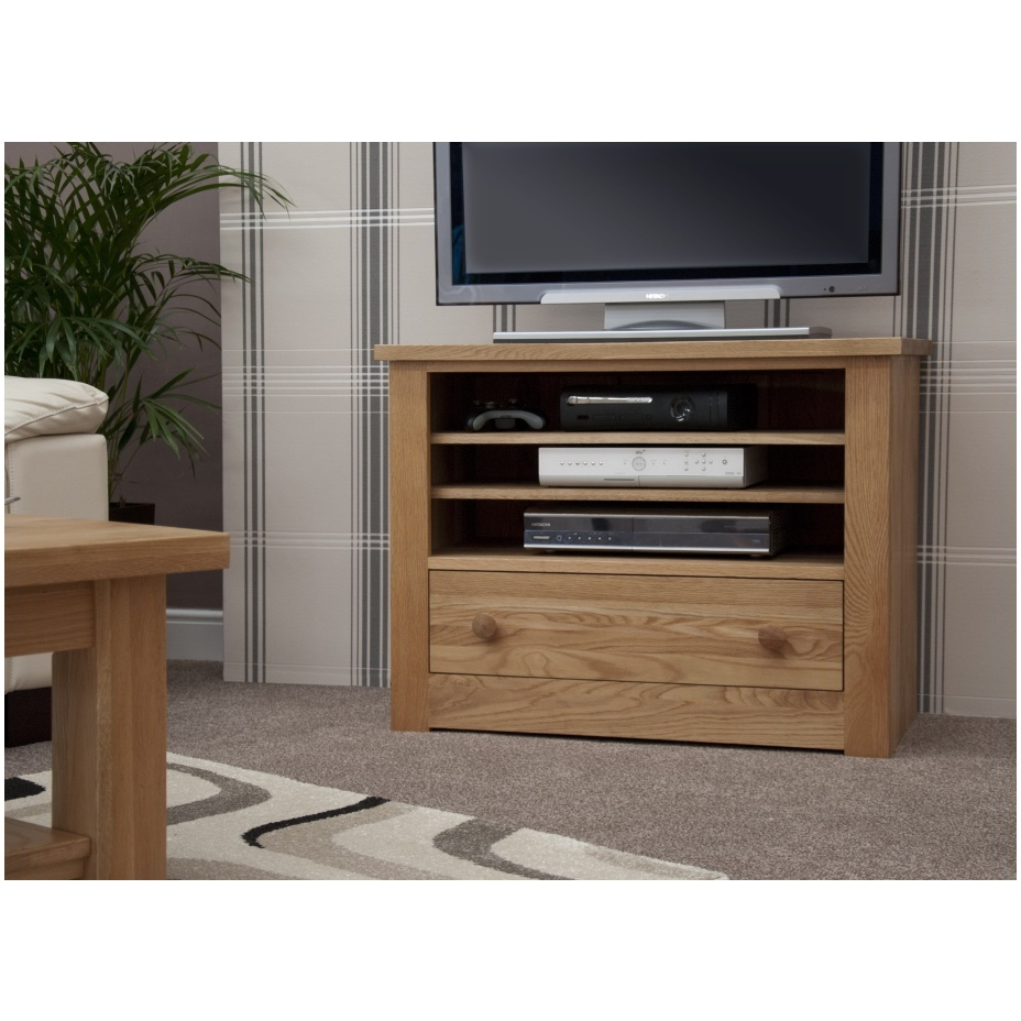 Kingston Solid Oak Living Room Furniture Television