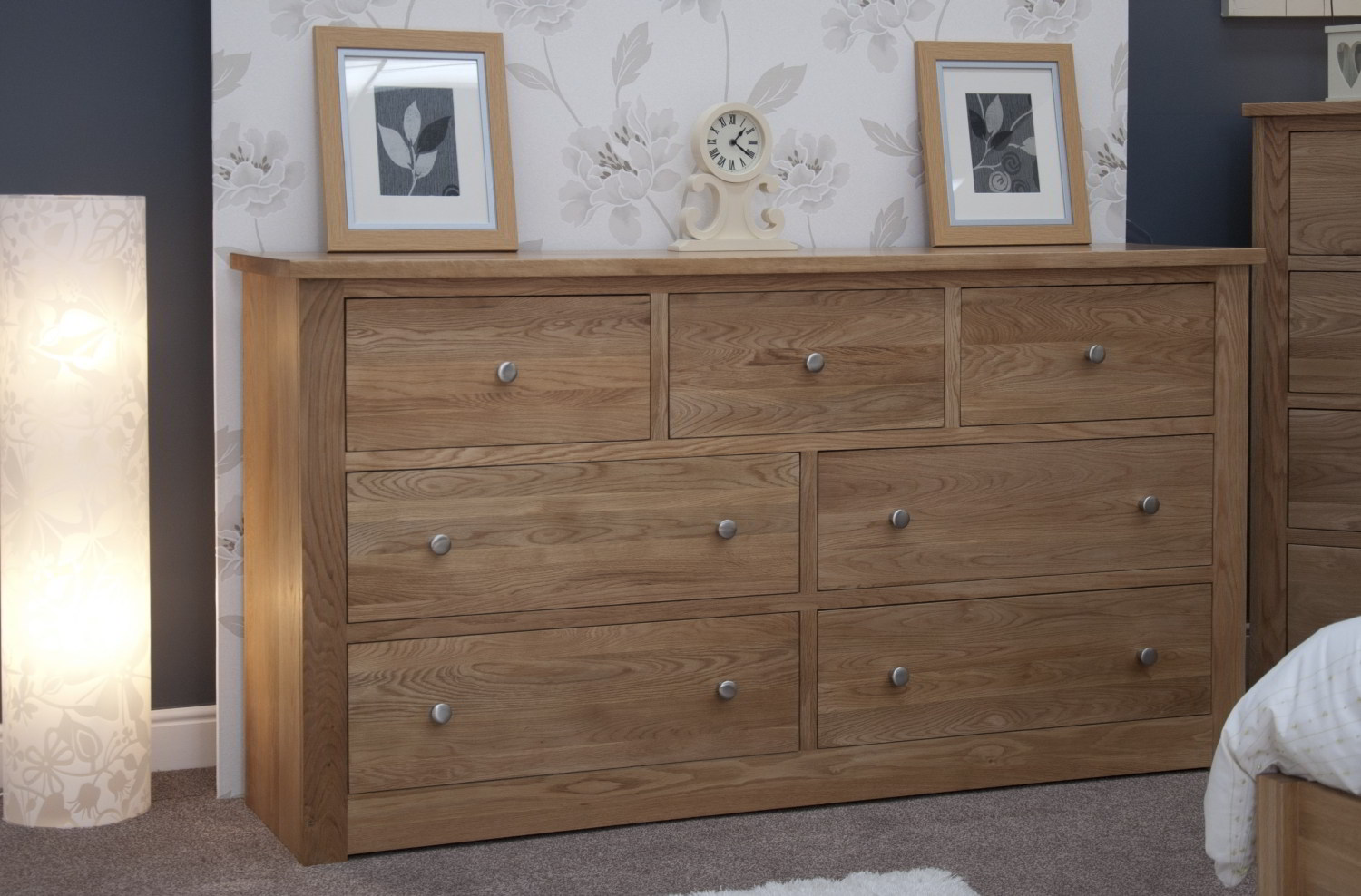 #634C3B Kingston Solid Modern Oak Bedroom Furniture Deep Wide Chest Of Drawers with 1500x988 px of Most Effective Modern Bedroom Chest Of Drawers 9881500 wallpaper @ avoidforclosure.info