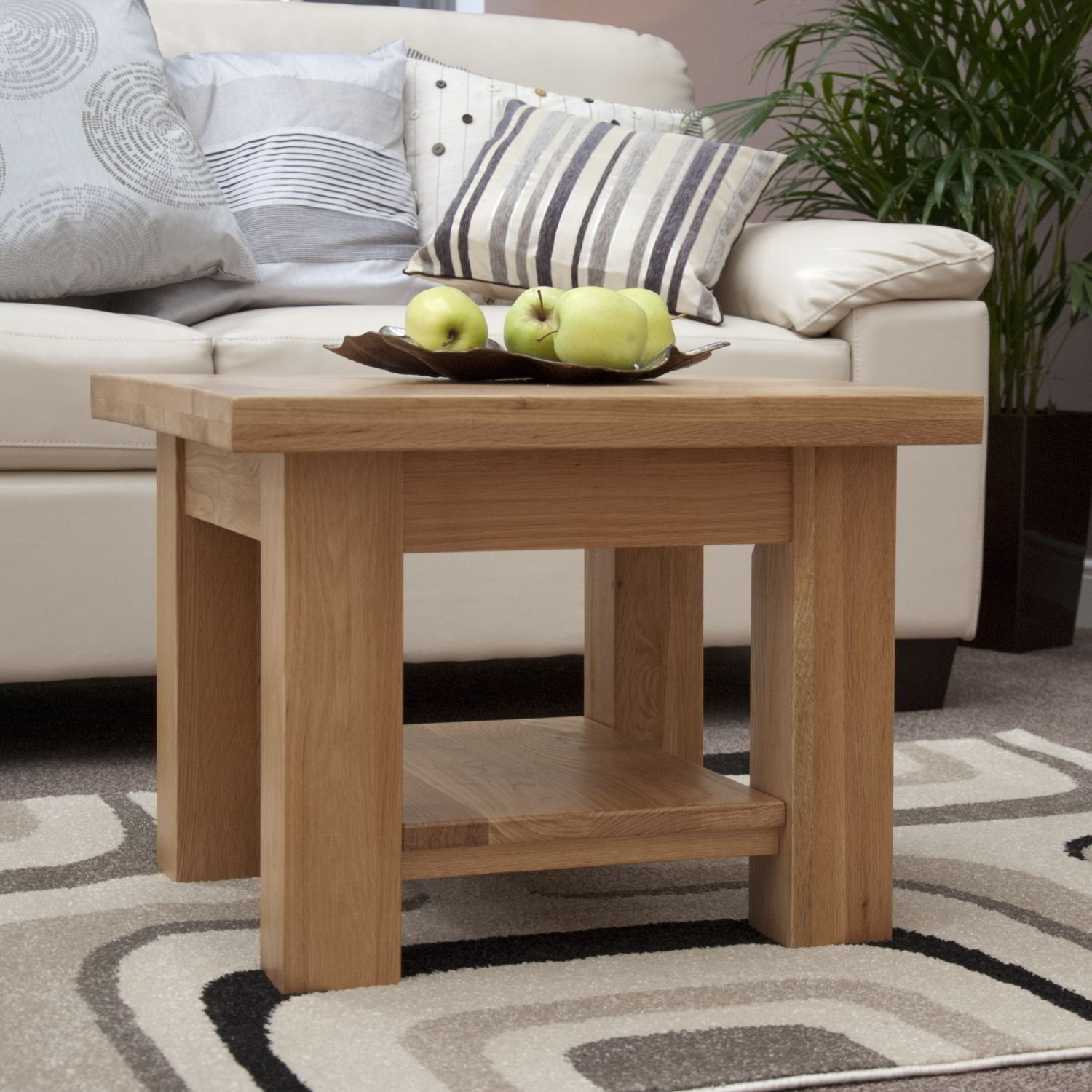 kingston solid oak living room lounge furniture small square coffee table | ebay