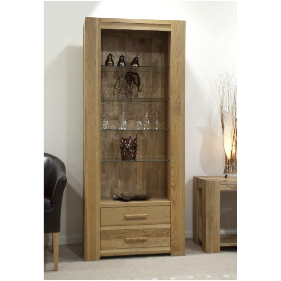 Pemberton Solid Oak Office Furniture Tall Bookcase With