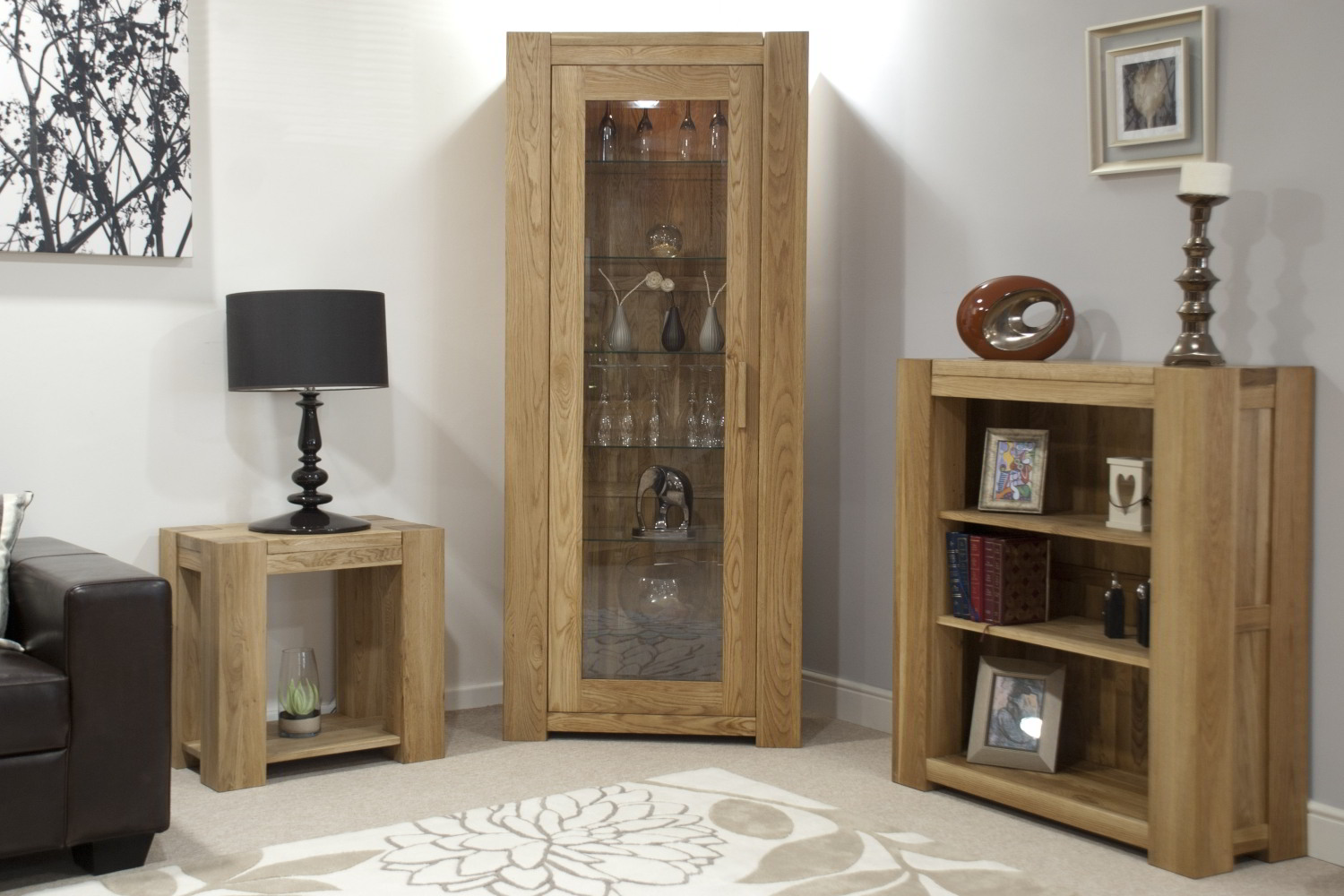 Oak Furniture Living Room Pemberton Solid Oak Furniture Small Living Room Office Bookcase Ebay