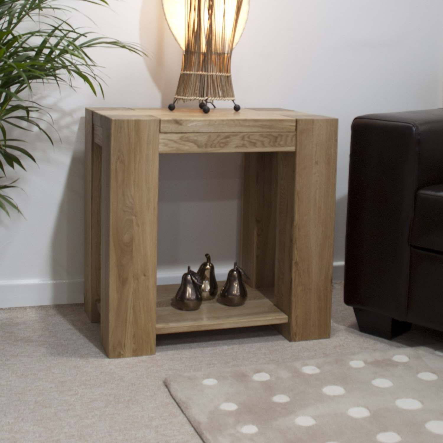 Pemberton Solid Chunky Oak Living Room Furniture Lamp Sofa Side Table EBay