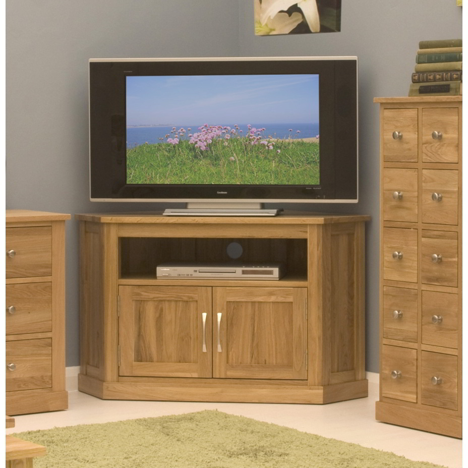 Conran solid oak living room furniture corner television for Living room tv stand
