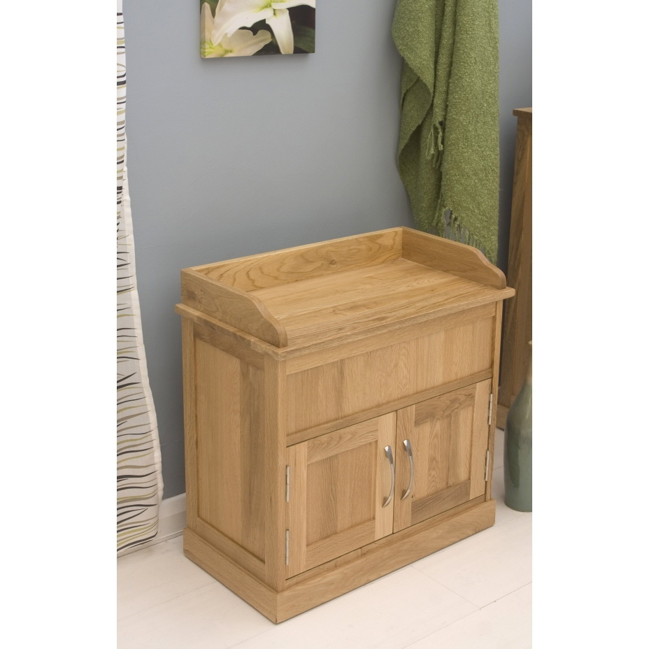 Mobel Solid Oak Furniture Shoe Storage Hallway Bench: Conran Solid Oak Furniture Hallway Shoe Storage Bench