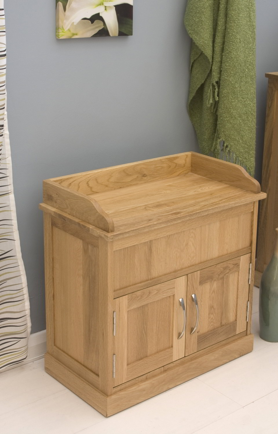 Conran Solid Oak Furniture Hallway Shoe Storage Bench