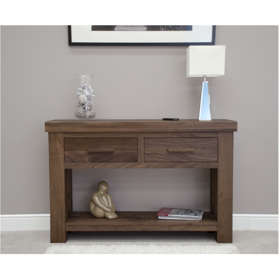 Hallway Console Table : Kendo solid modern walnut furniture hallway console hall table  eBay