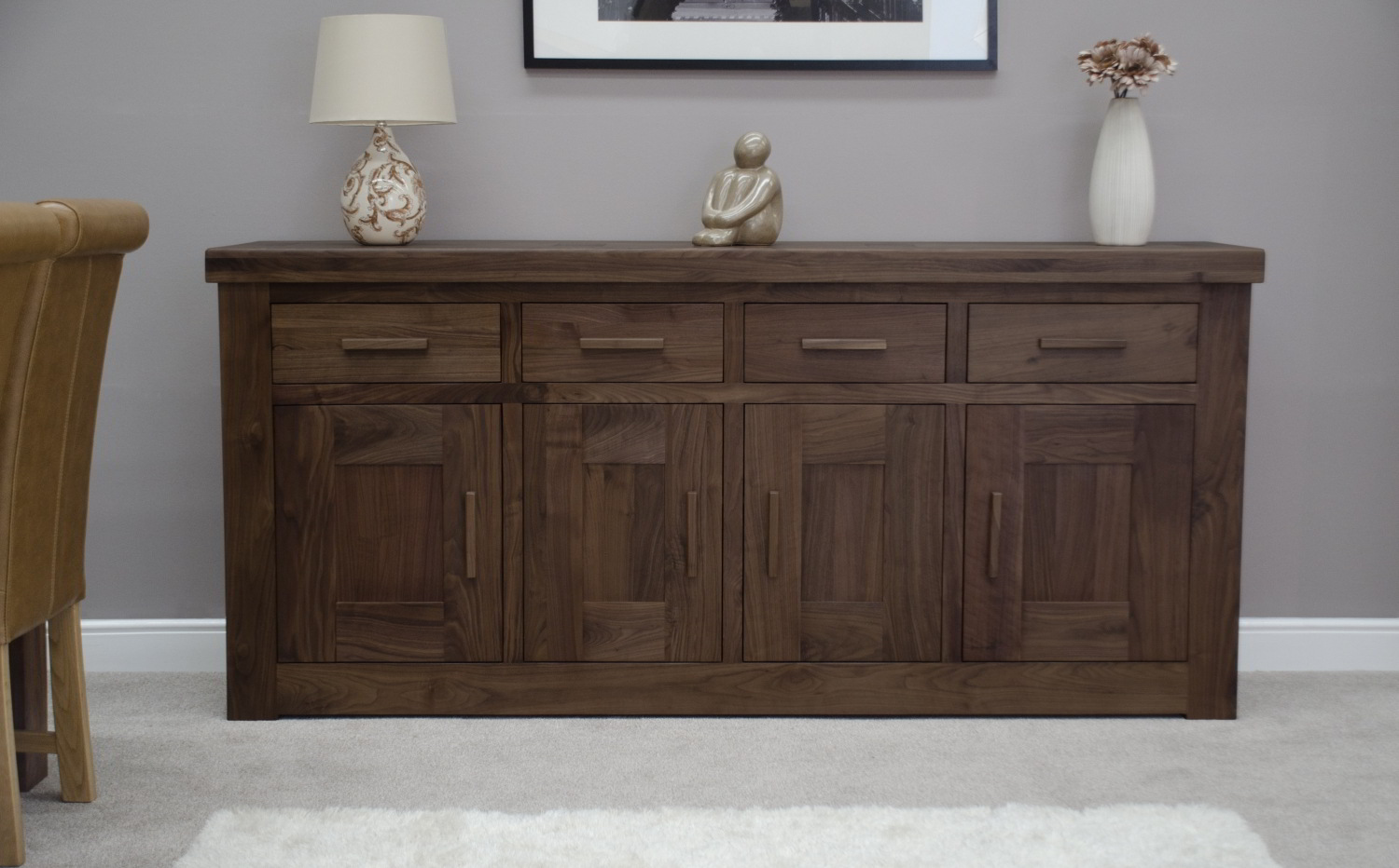 Kendo Solid Walnut Living Dining Room Furniture Extra Large Grand Sideboard