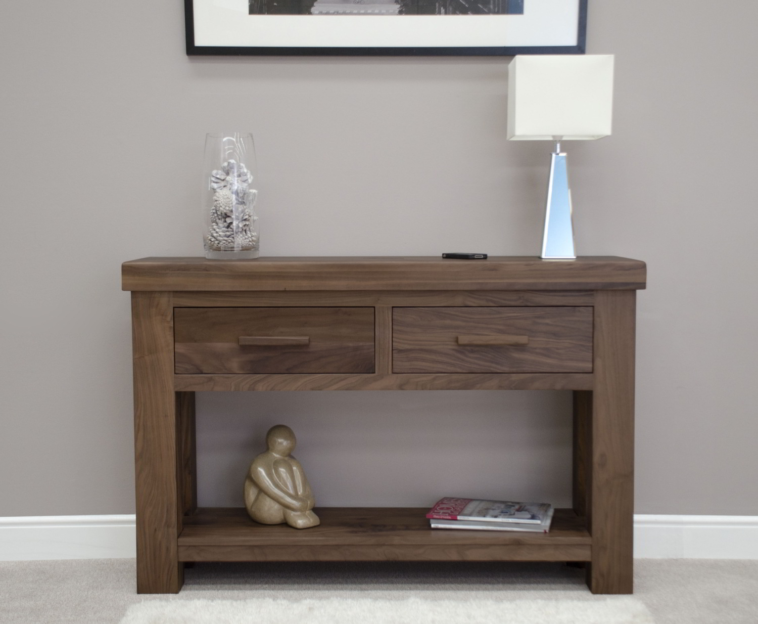 ... Kendo Solid Modern Walnut Furniture Hallway Console Hall ...