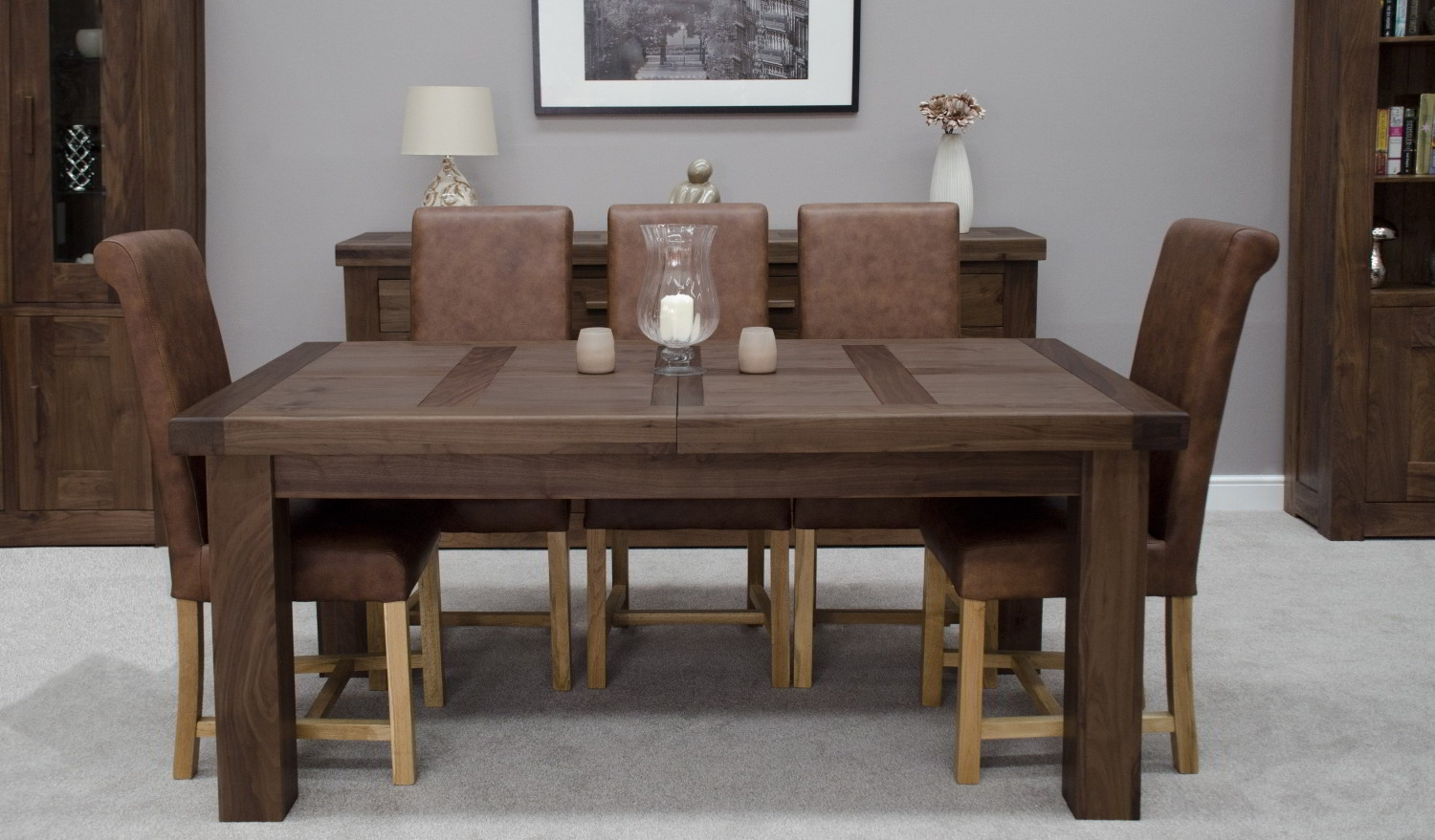 kendo solid modern walnut dining room furniture grand