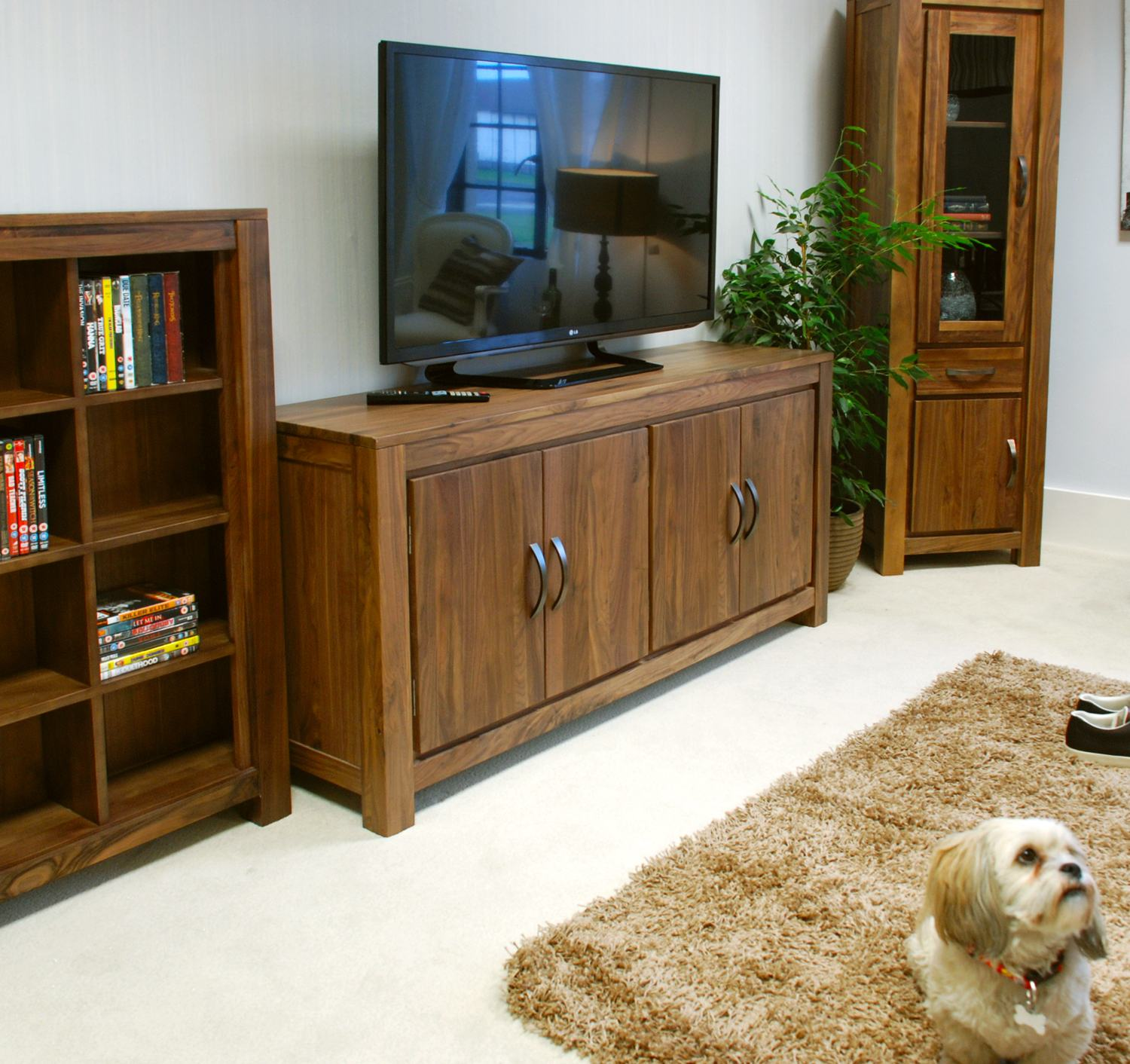 linea solid walnut home furniture large low living dining