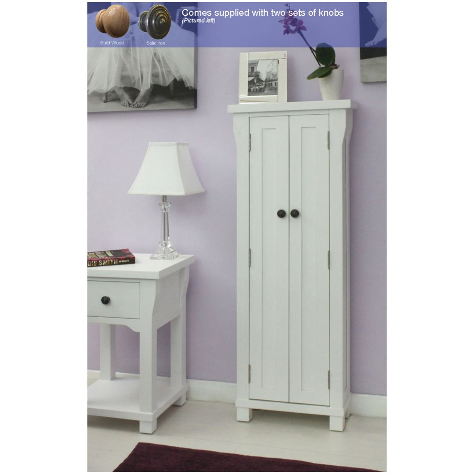 New England White Painted Furniture Cd Dvd Storage Cabinet