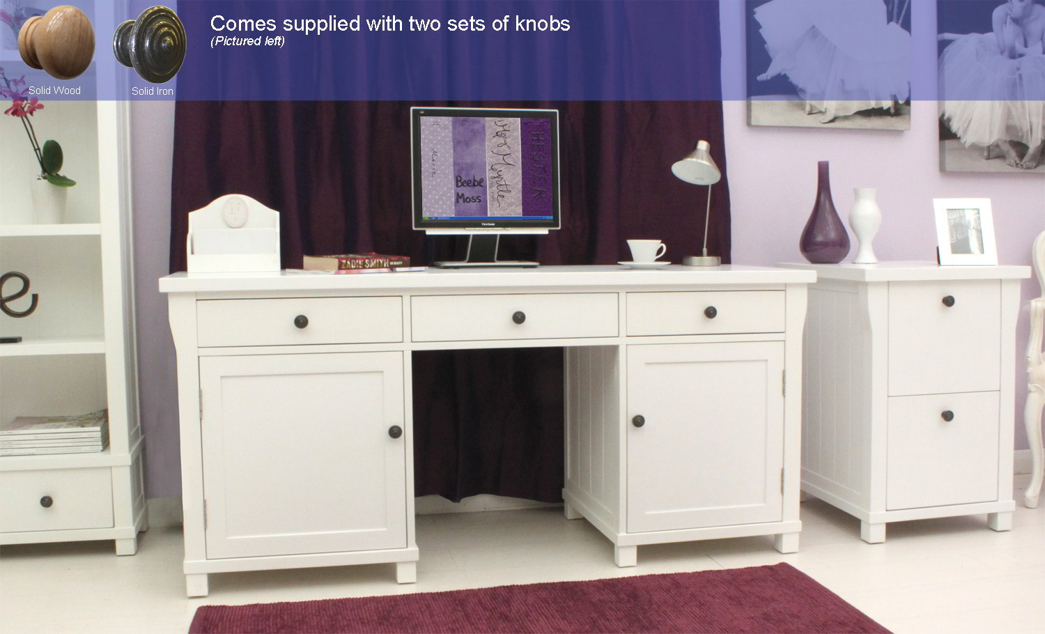 new white painted furniture large hideaway office