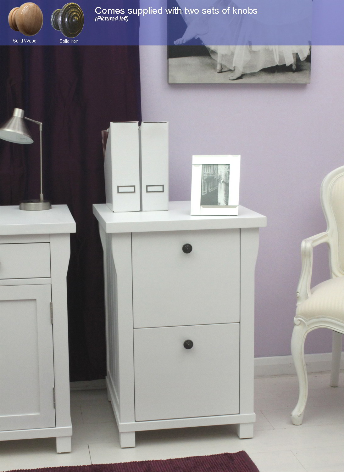 New England White Painted Furniture Small Office Computer