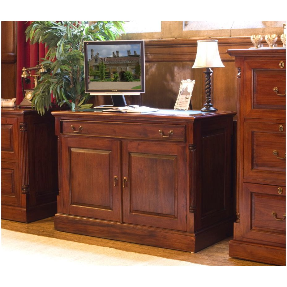 chateau solid mahogany furniture hidden home office pc