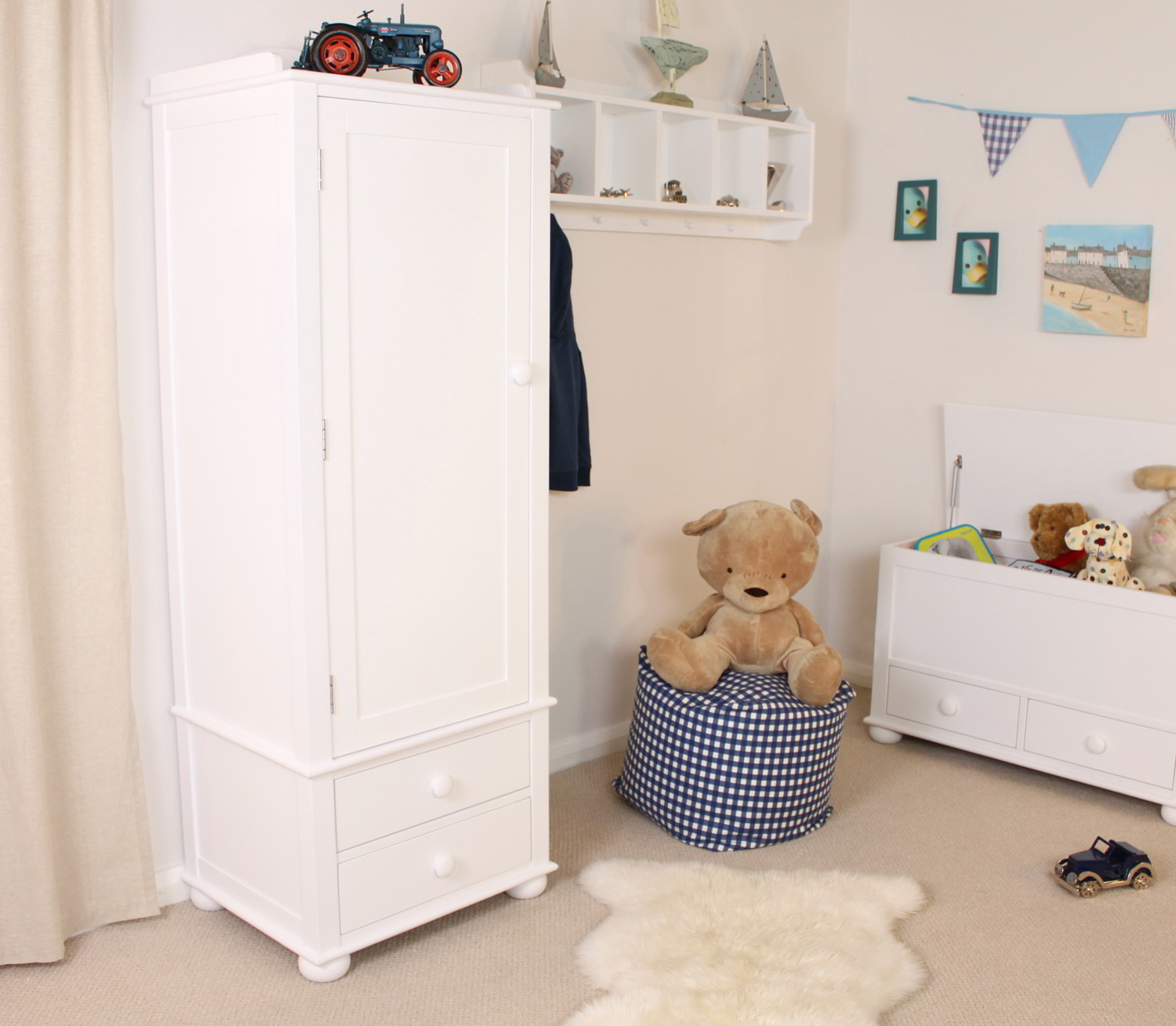 linden white painted childrens bedroom furniture single clothes