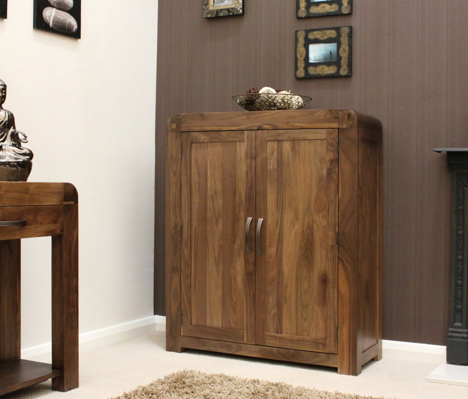 Strathmore Solid Walnut Home Furniture Hallway Shoe