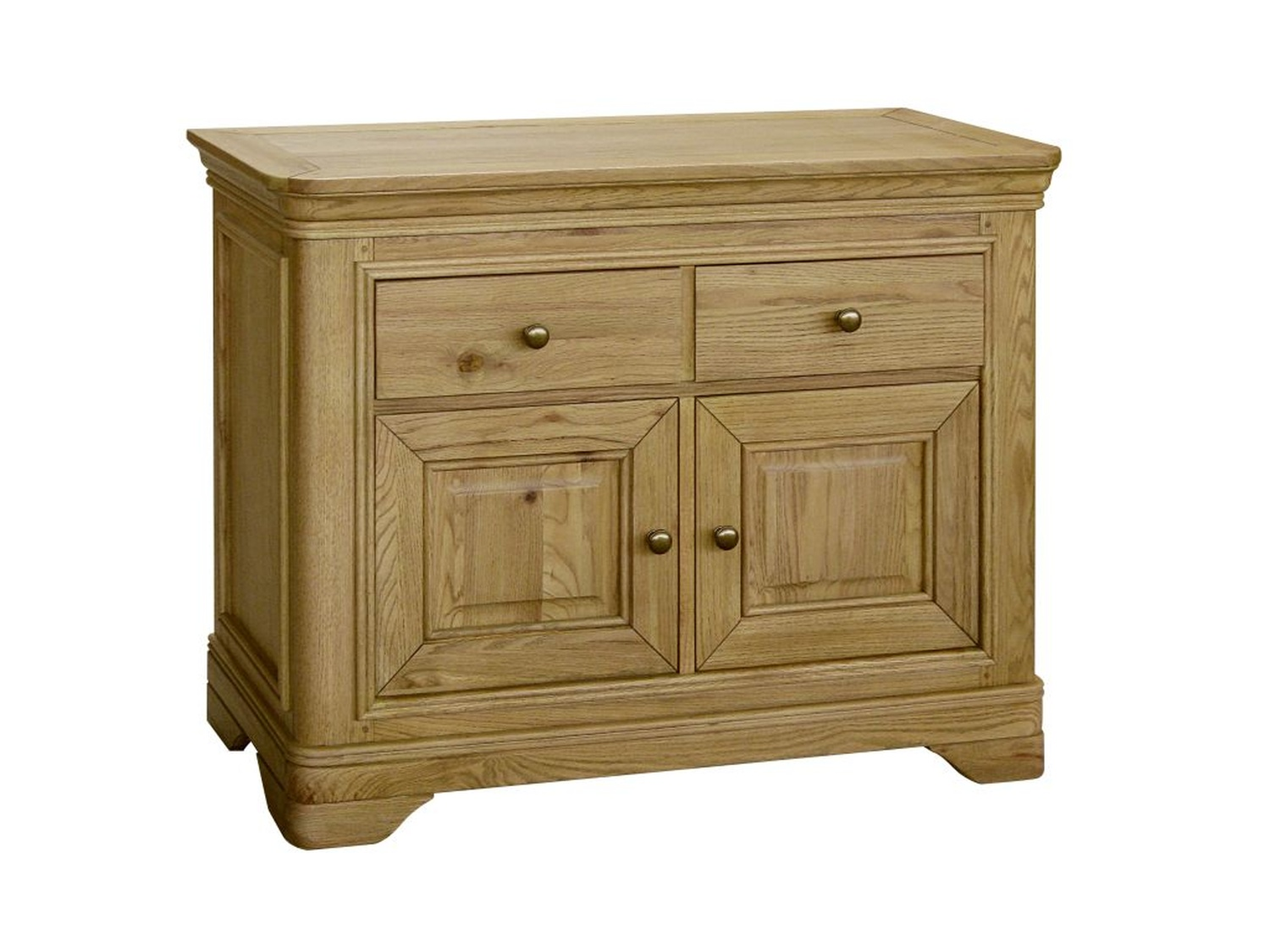 Linden Solid Oak Living Dining Room Furniture Small Sideboard EBay. Full resolution  portraiture, nominally Width 1500 Height 1125 pixels, portraiture with #442E08.