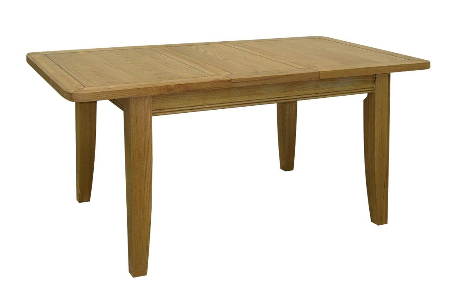Linden solid oak dining room furniture extending dining for Solid oak dining table