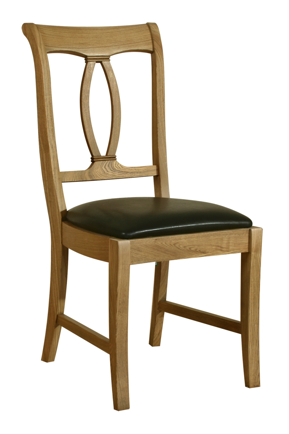 Solid Oak Dining Chairs ~ Linden solid oak dining room furniture set of two