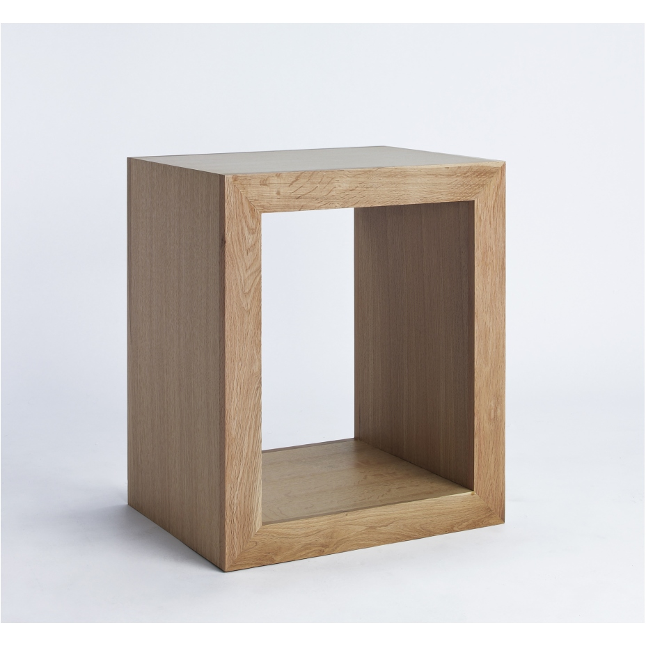 Compton solid oak furniture cube storage table unit for Solid oak furniture