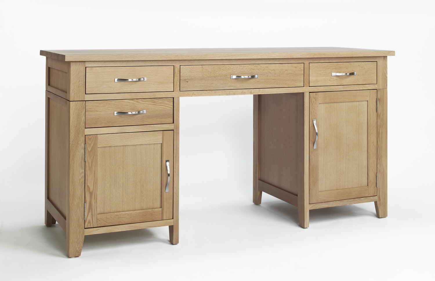 Compton Solid Oak Furniture Double Pedestal Large Office