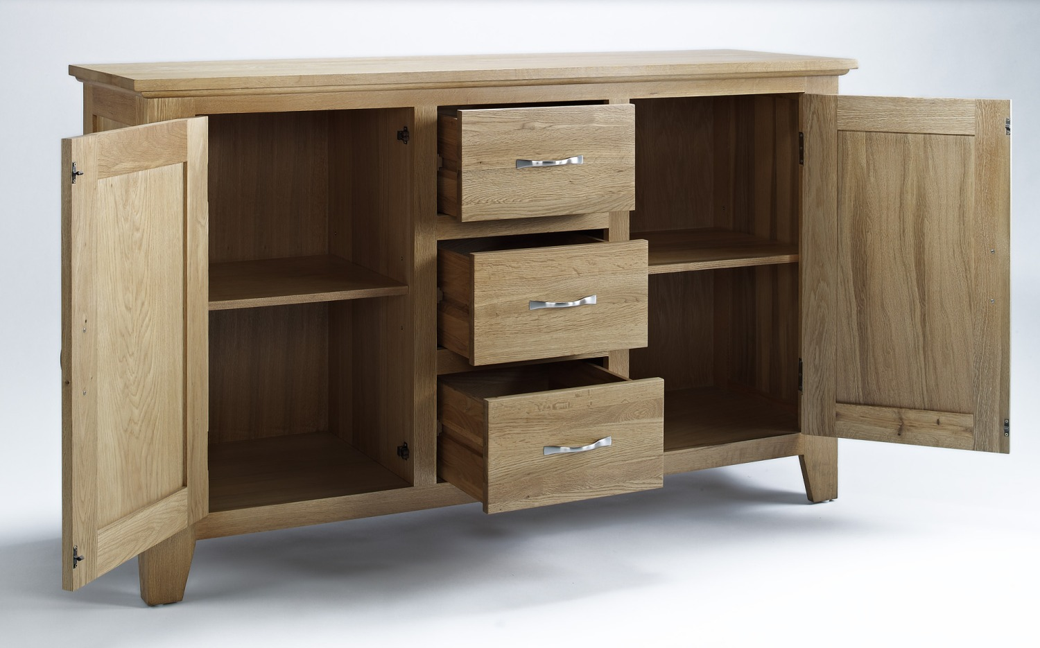 Solid Oak Furniture Large Living Dining Room Storage Sideboard EBay. Full resolution  portraiture, nominally Width 1500 Height 935 pixels, portraiture with #322419.