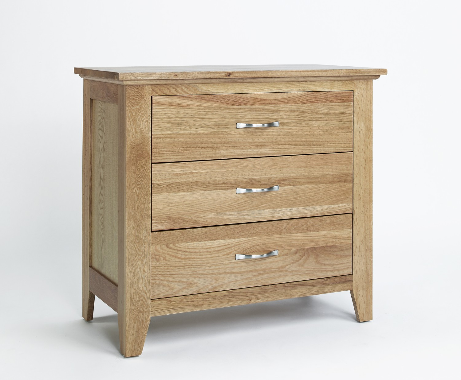 Compton Solid Oak Furniture Three Drawer Bedroom Chest Of Drawers Ebay