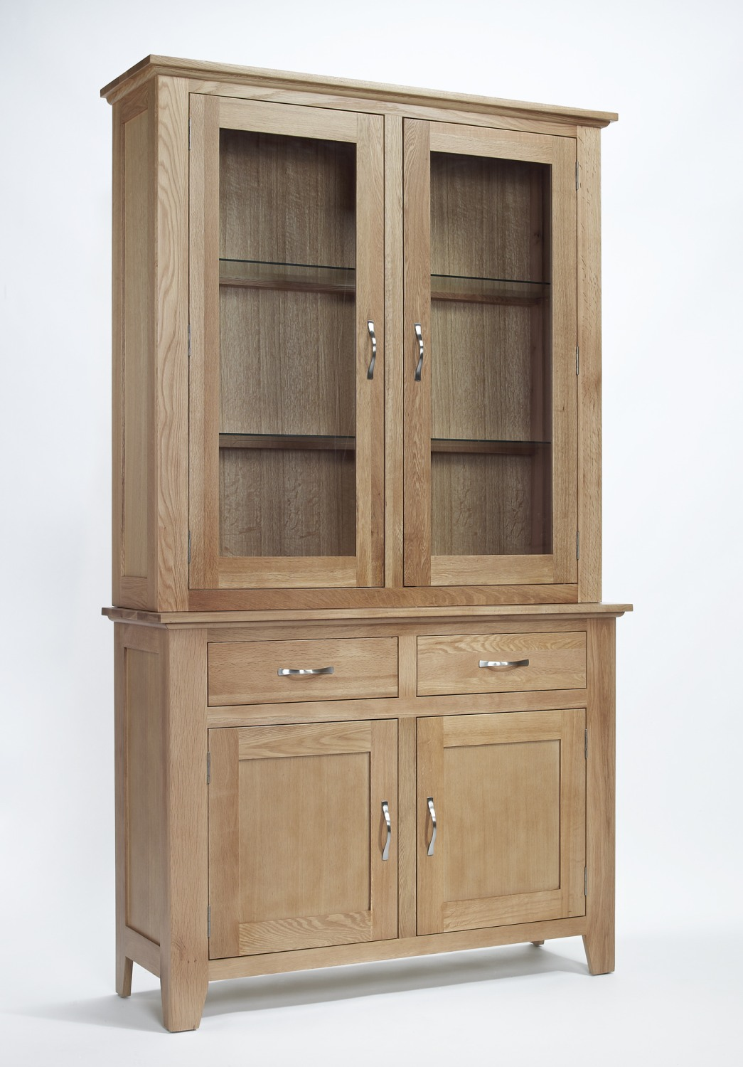 Compton solid oak furniture dining room dresser display for Dining room display cabinets