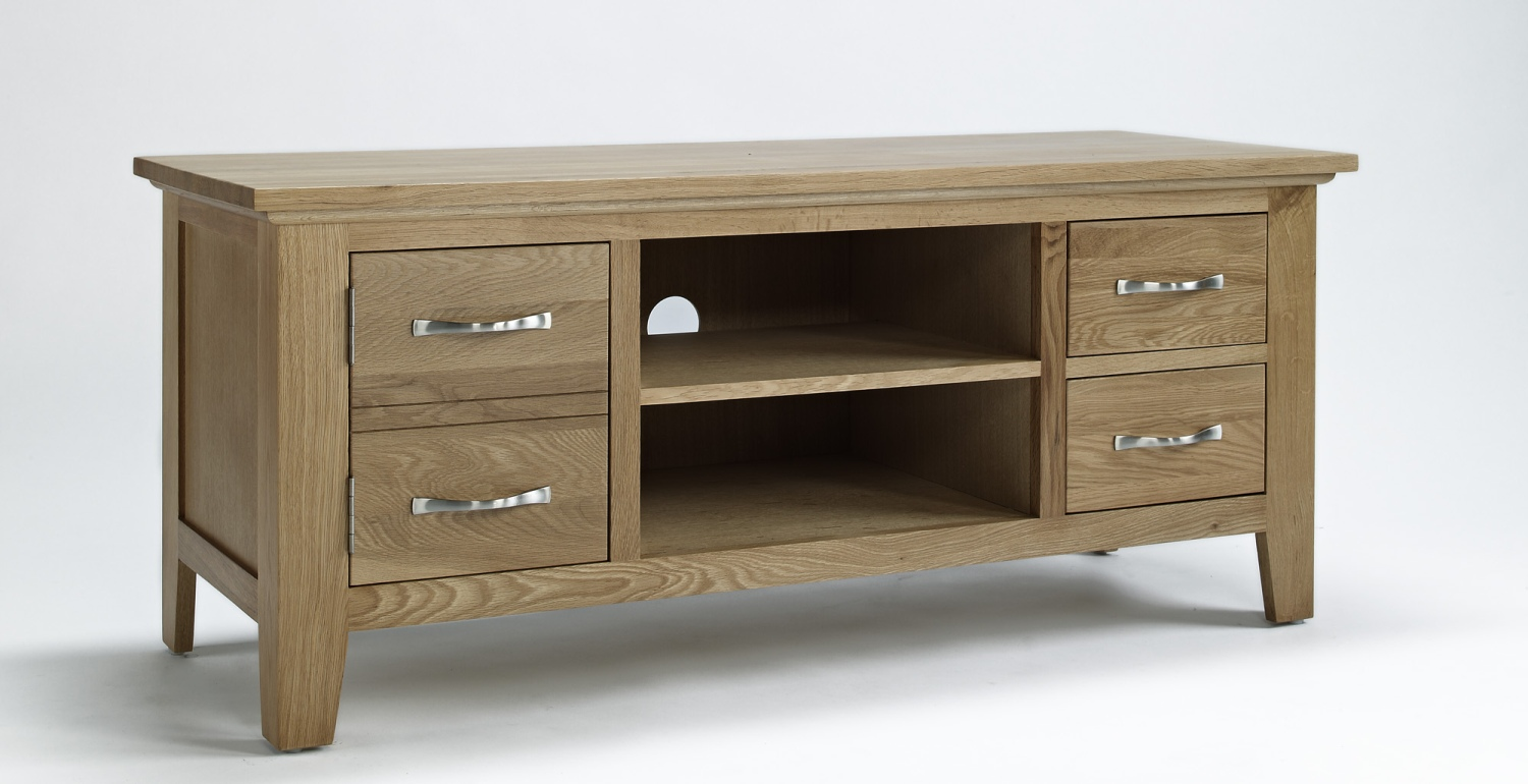 Compton Solid Oak Living Room Furniture Television Cabinet