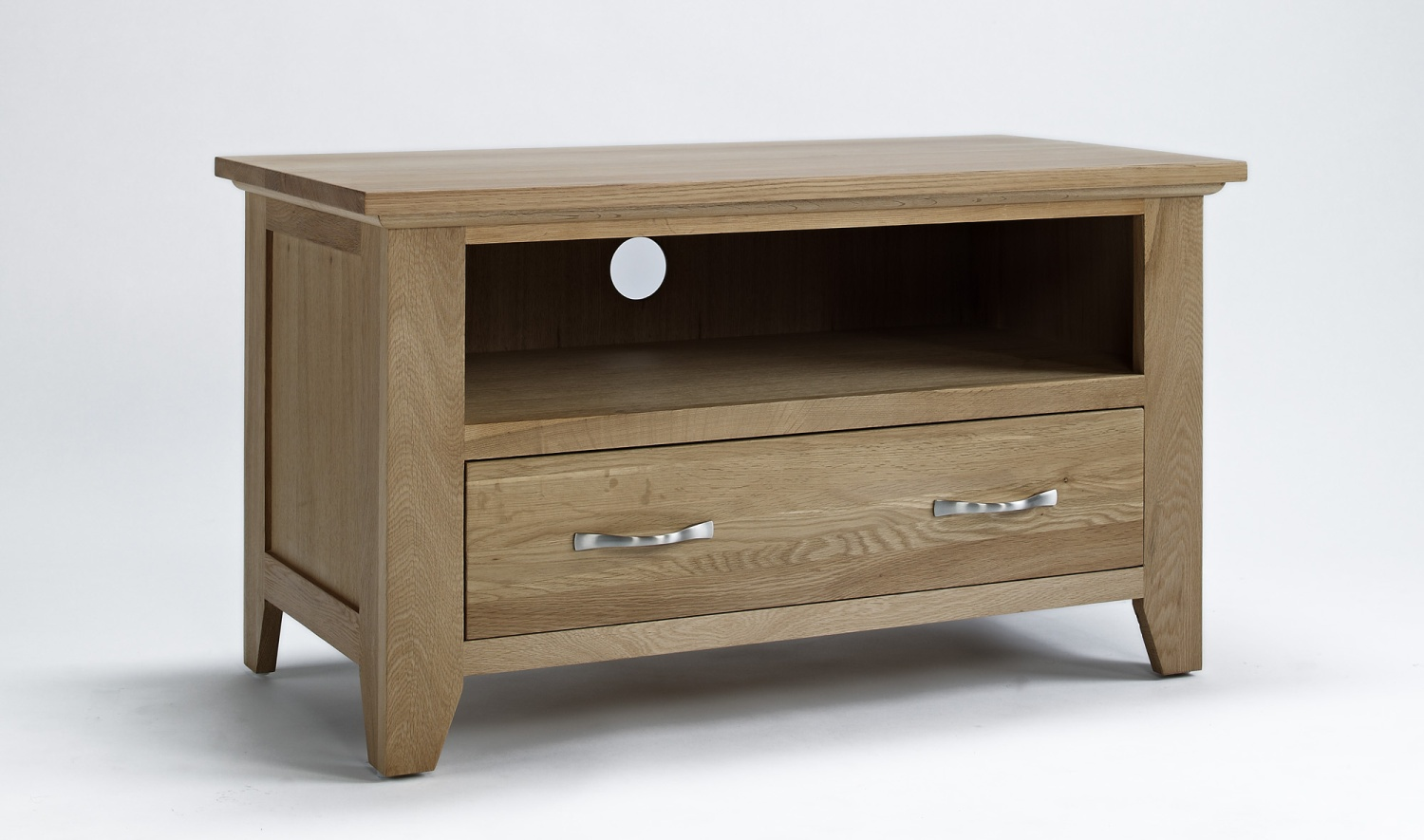 Compton solid oak living room furniture small tv cabinet for Tv stand for small living room