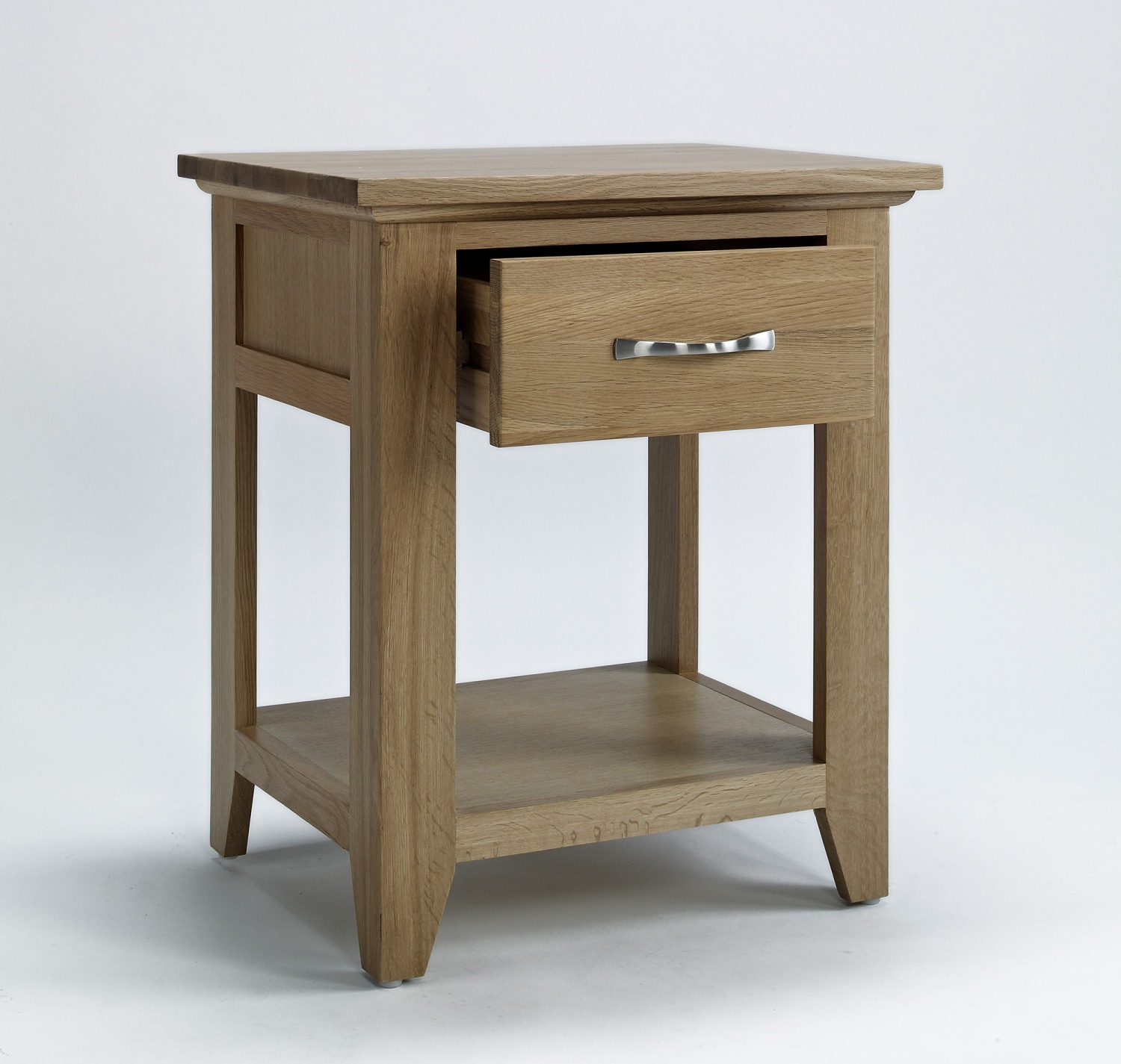 Compton Solid Oak Furniture Storage Lamp Table Ebay
