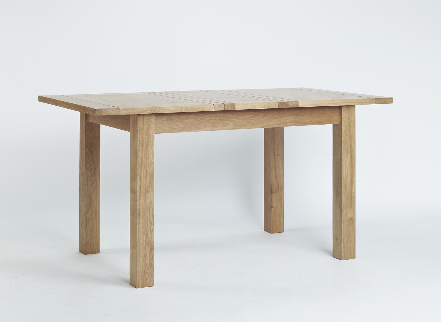 Compton Solid Oak Furniture Small Extending Dining Table