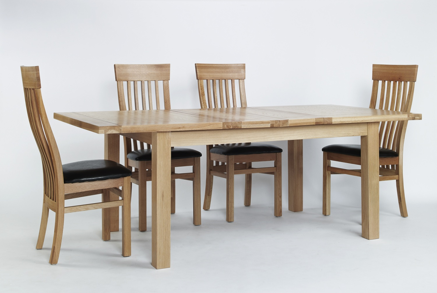 Compton Solid Oak Furniture Large Extending Dining Table