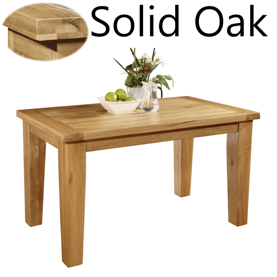 panama solid oak dining room furniture 140cm dining table