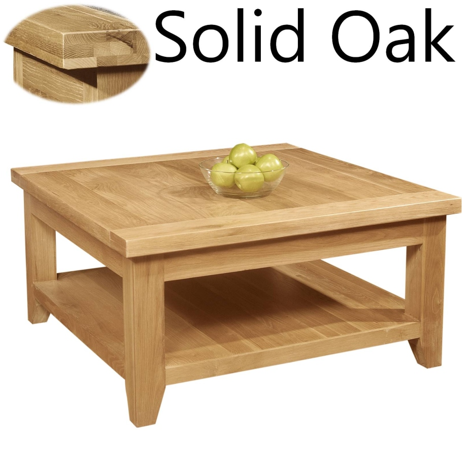 Panama Solid Oak Living Room Furniture Square Coffee Table