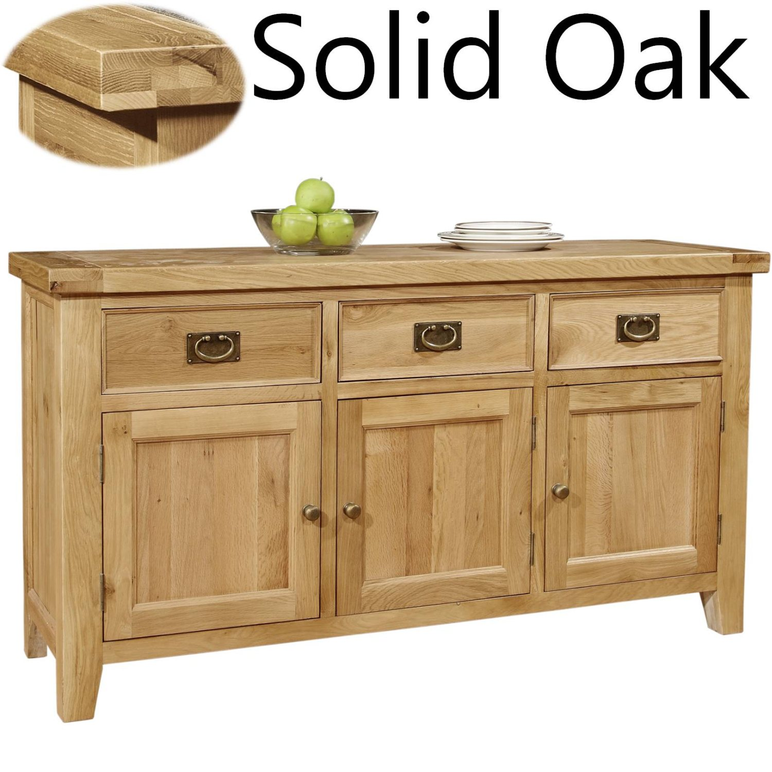 panama solid oak furniture living dining room storage