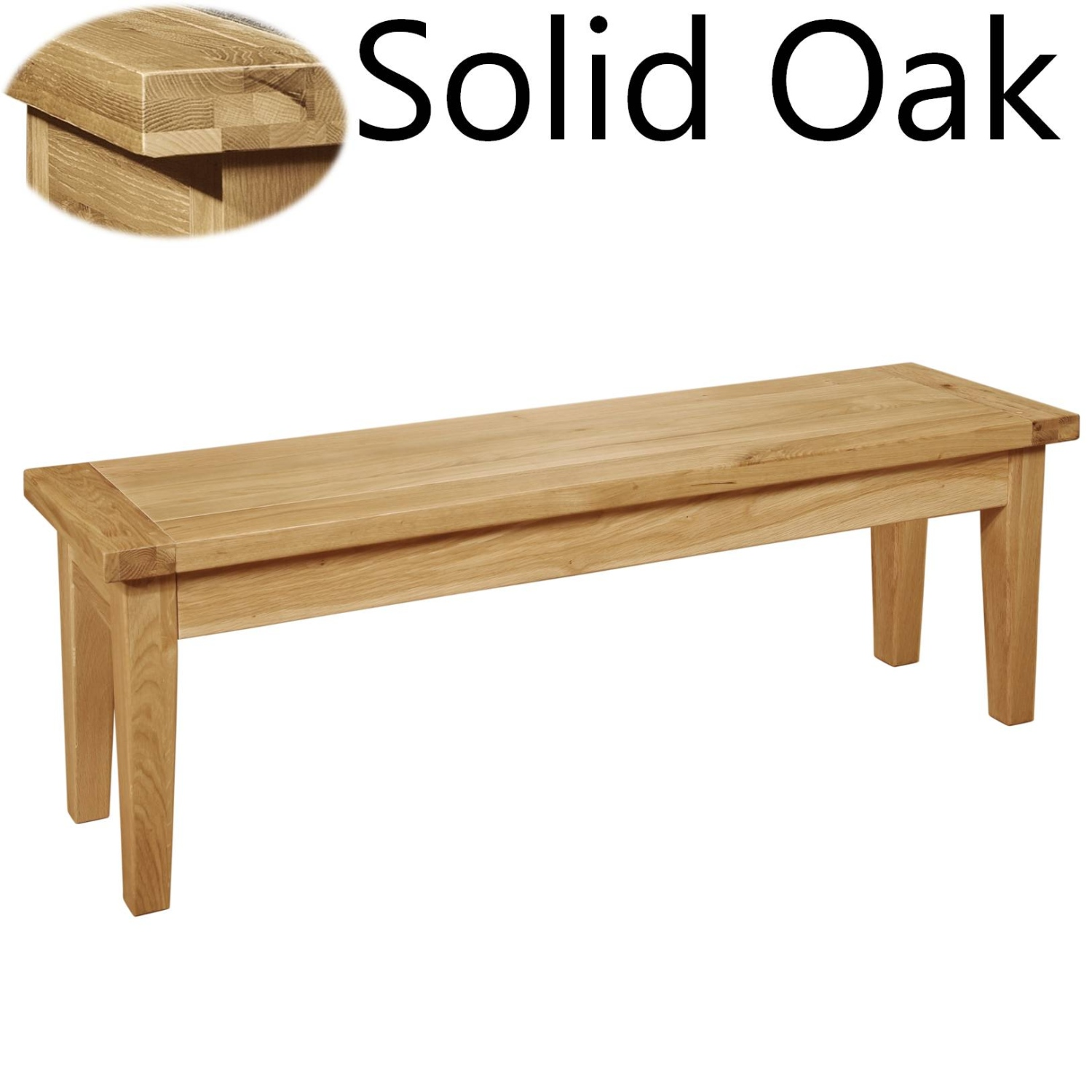 Panama Solid Oak Furniture Dining Room Bench EBay. Full resolution  image, nominally Width 1500 Height 1500 pixels, image with #6E3E1F.