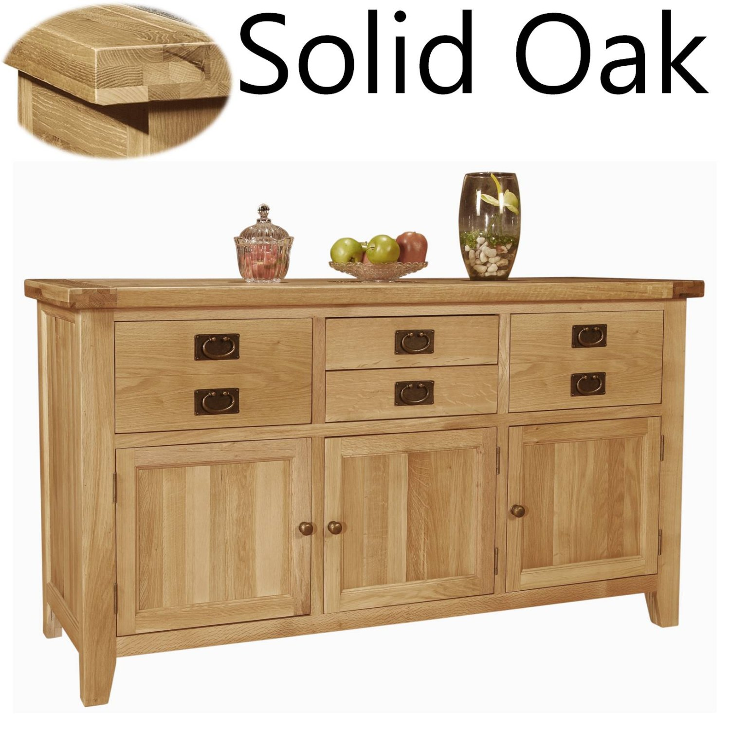 Panama Solid Oak Furniture Large Living Dining Room Sideboard EBay. Full resolution  portraiture, nominally Width 1500 Height 1500 pixels, portraiture with #958B36.
