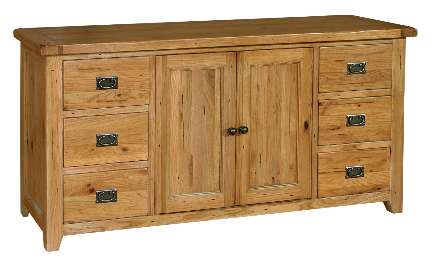 Tuscany Solid Oak Furniture Large Living Dining Room Sideboard EBay. Full resolution  portraiture, nominally Width 1400 Height 869 pixels, portraiture with #734C23.