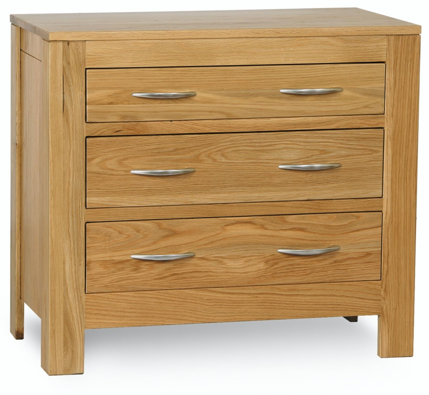 Cotswold solid oak bedroom furniture small chest of for Solid oak furniture