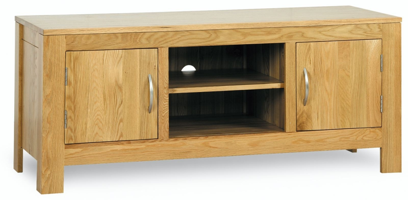 Cotswold solid oak living room furniture low television for Low space furniture
