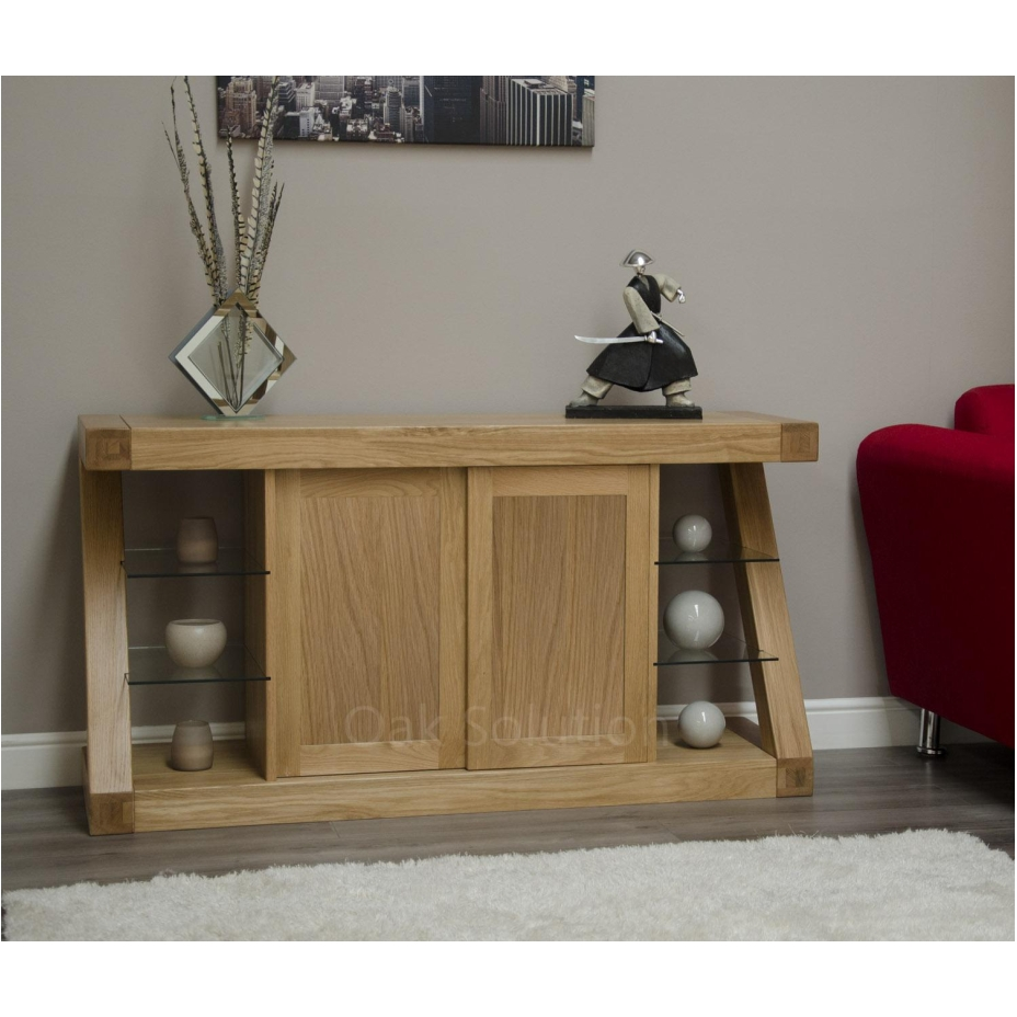 solid oak designer furniture large sideboard living dining room ebay
