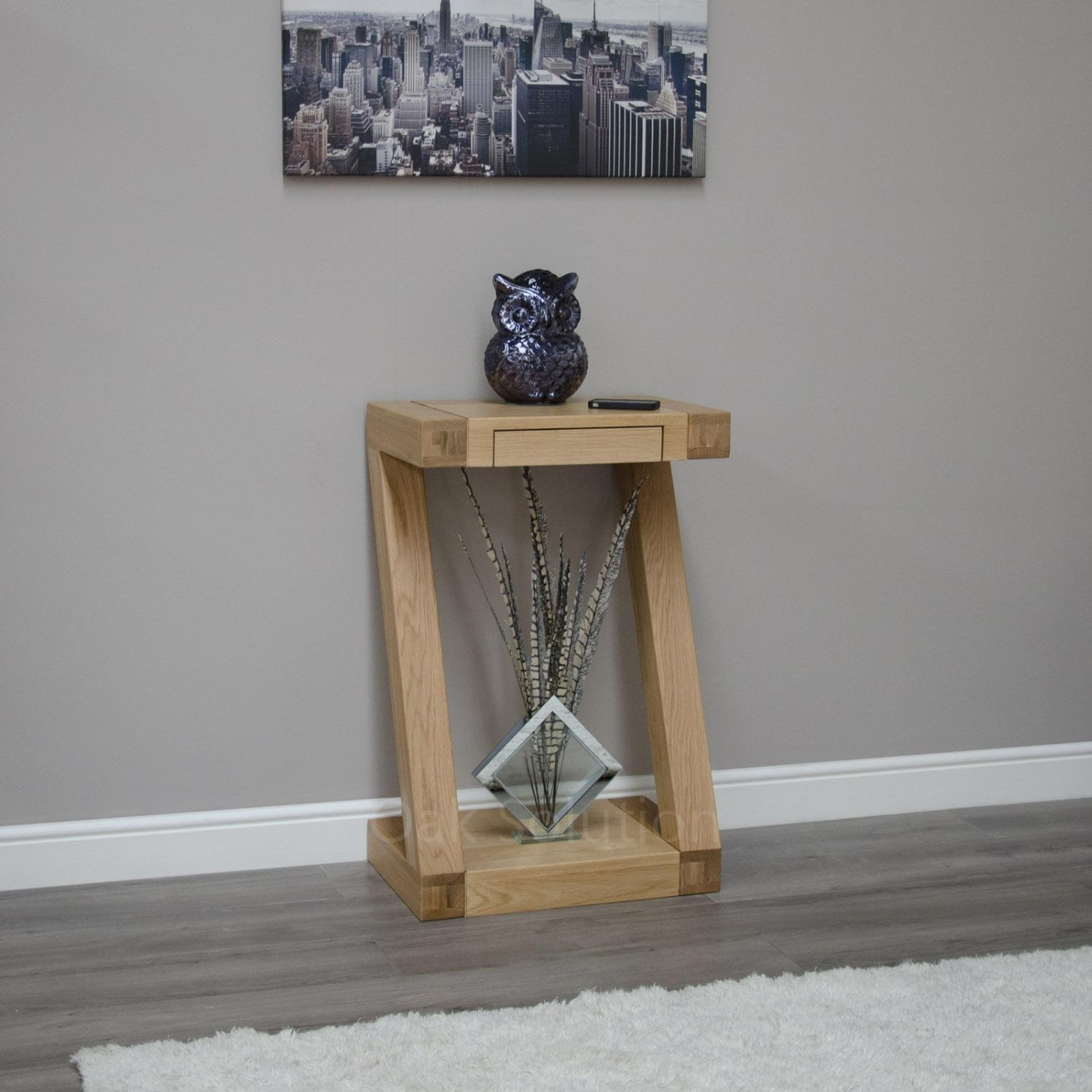 z solid oak designer furniture small hall console hallway